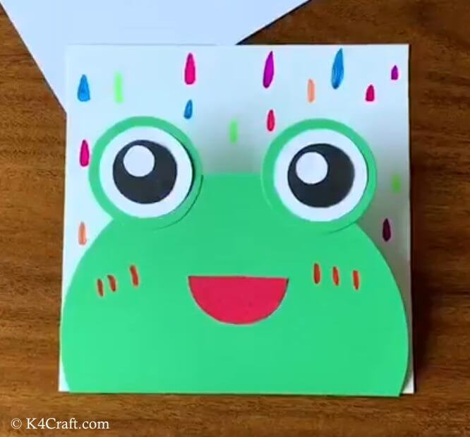 Green day crafts for kids, toddlers, preschool - DIY Paper Frog For Kindergarten