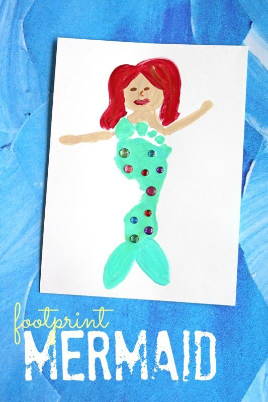 Stamp and paint! Mermaid Crafts Kids Will Love