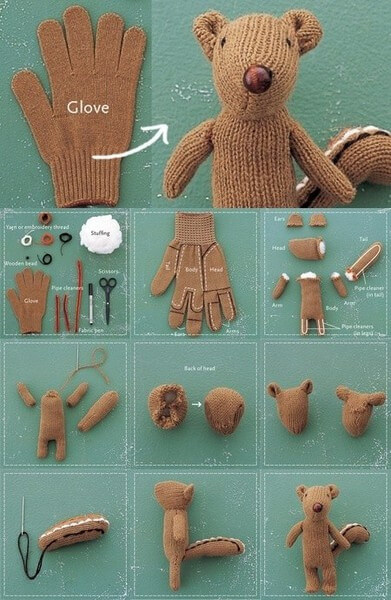 Making A Squirrel Using A Hand Glove