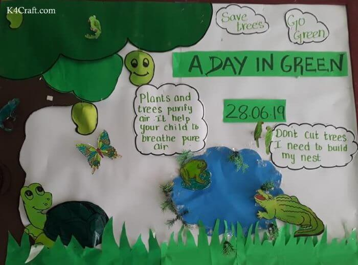 Green day crafts for kids, toddlers, preschool - Adorable Save Tree And Go Green Craft