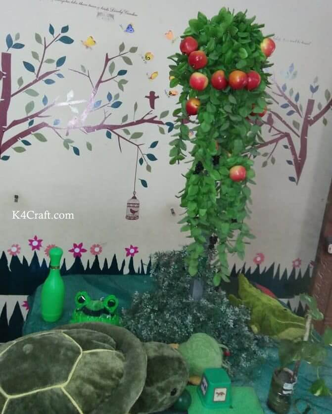 Green day crafts for kids, toddlers, preschool - Apple Tree And Aquatic Animal Activity