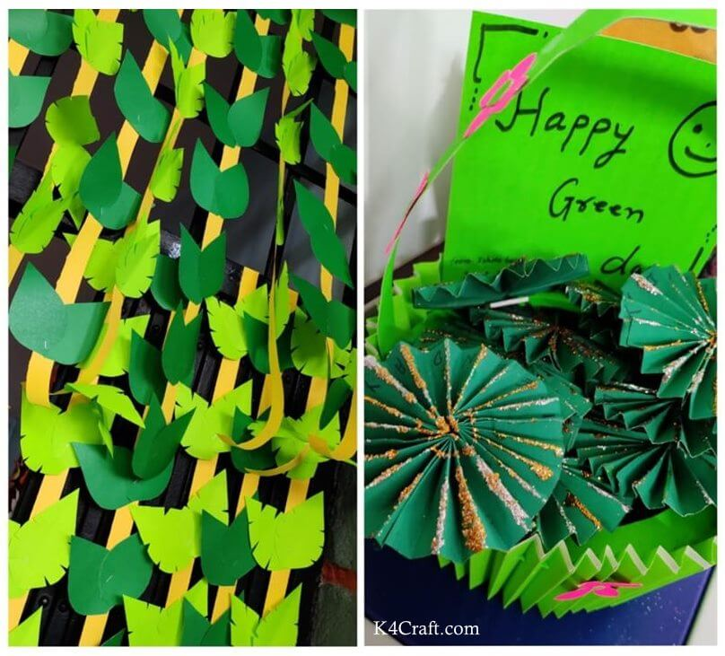 Green day crafts for kids, toddlers, preschool - Happy Green Day Cards And Ribbons