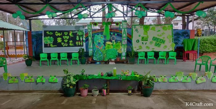 Green day crafts for kids, toddlers, preschool - Adorn Your School Ground In Green