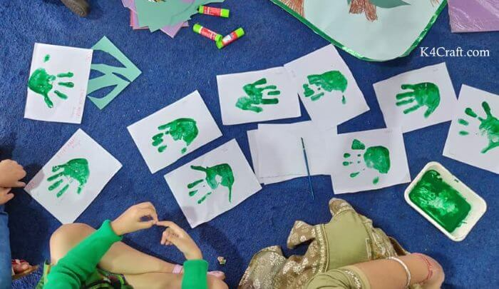 Green day crafts for kids, toddlers, preschool - Appealing Hand Print Collection