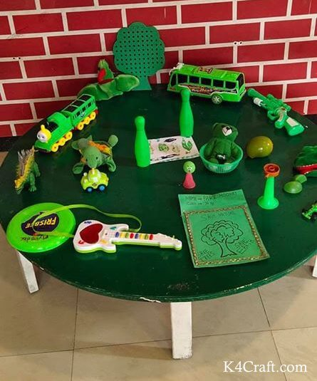Green day crafts for kids, toddlers, preschool - Green Toys On Green Day