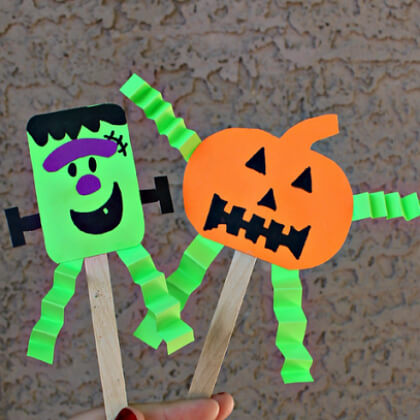 Halloween puppet making crafts ideas DIY Puppet Making Crafts Kids Will Love