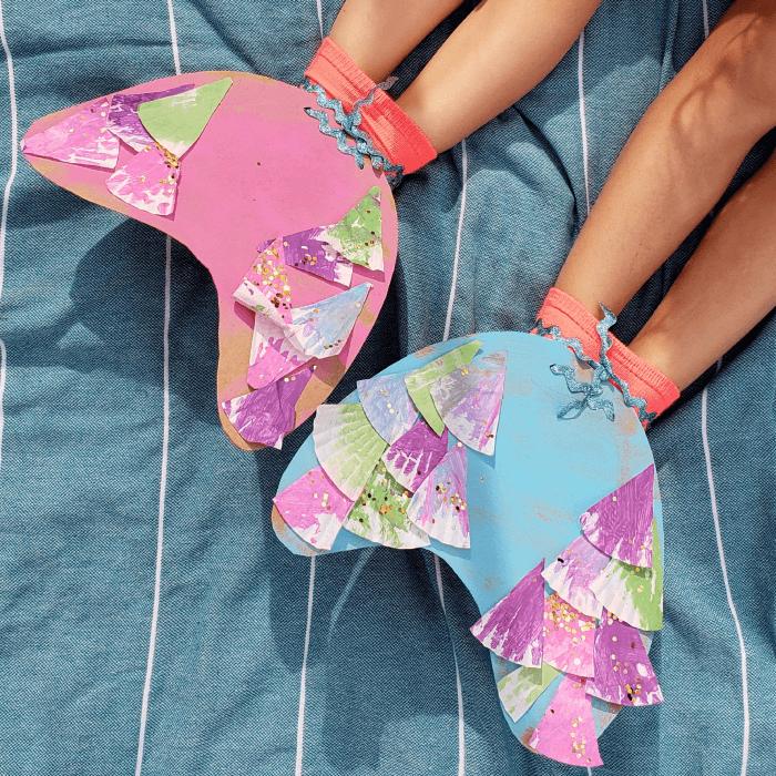 Flap a sock-fin Mermaid Crafts Kids Will Love