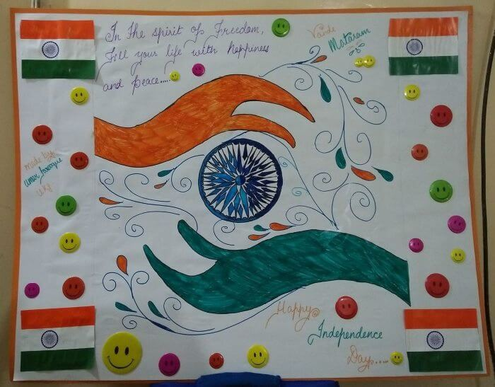 Beautiful Chart decoration for Republic Day Craft Ideas