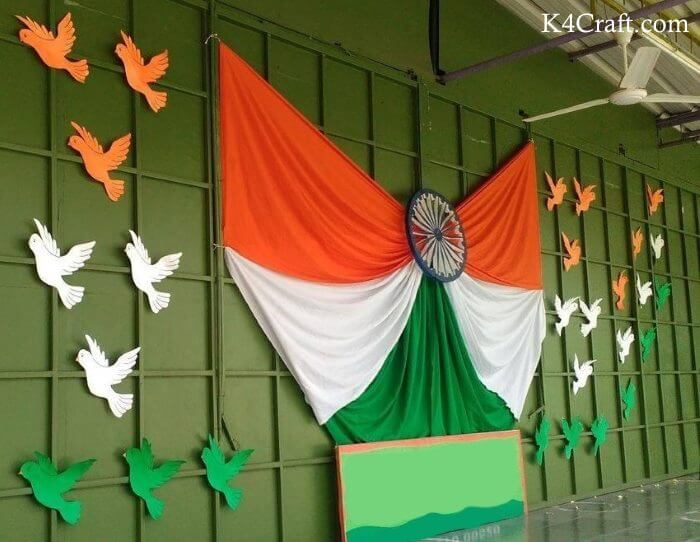 Clothes Made Republic Day Large Wall Decoration