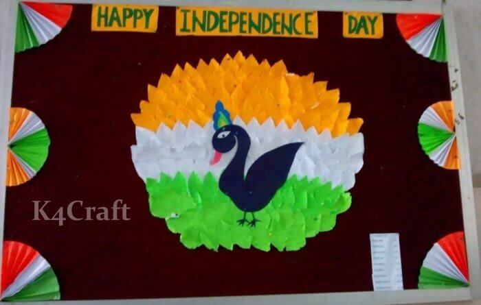Cute Paper Fan Republic Day Craft Ideas