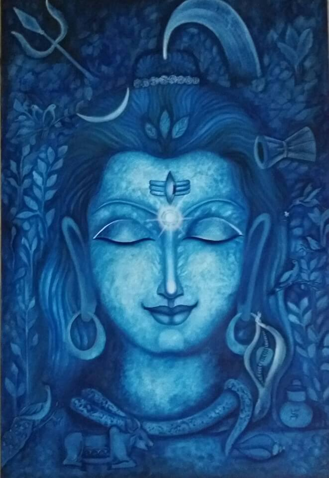 Mahadev painting for Maha Shivratri
