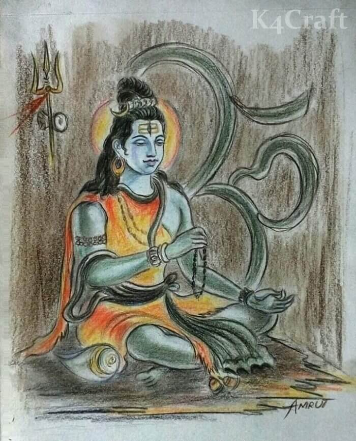Beautiful drawing for Maha Shivratri
