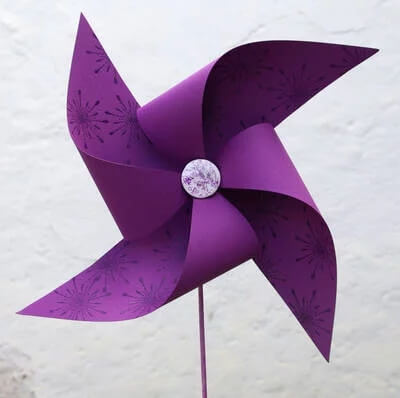 Windmill fans Purple Color Craft Activities & Fun Ideas for Kids