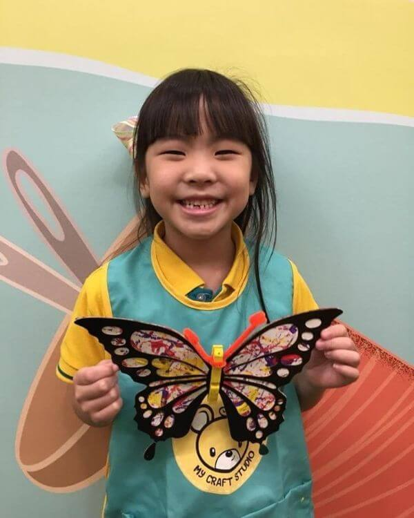 Butterfly craft project idea