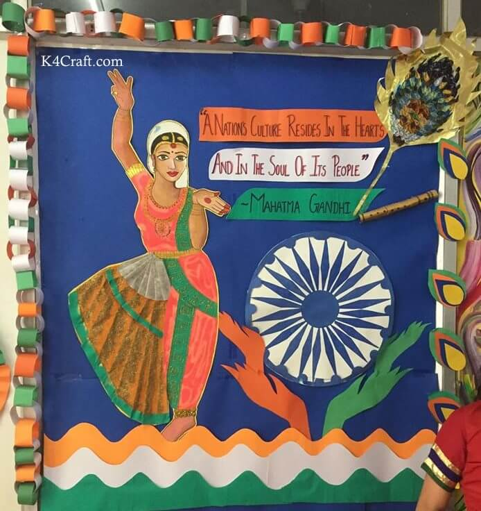 Cultural Decoration for Republic day Craft Idea