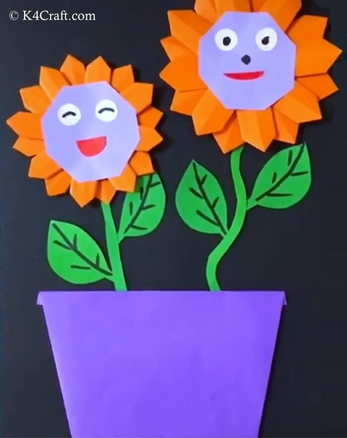 Orange Sunflower Plant Activity