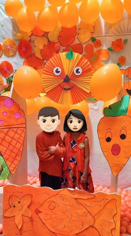Happy Orange Day Photo Booth With Balloons