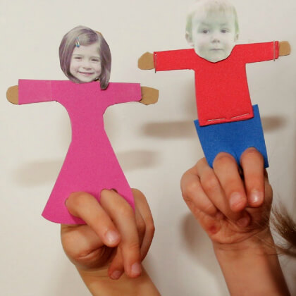 Hand puppet making crafts with your own photo DIY Puppet Making Crafts Kids Will Love