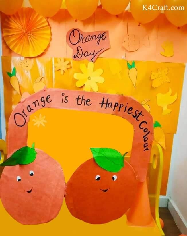 Happy Orange Day Crafts With Orange Fruits And Veggies