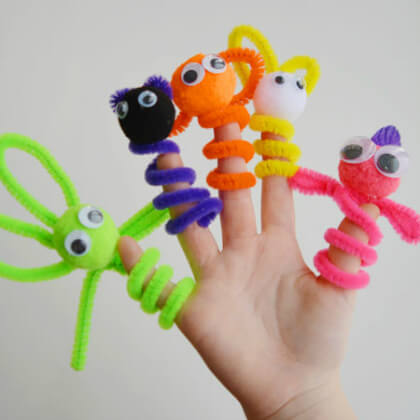 Pipe cleaner puppet making crafts DIY Puppet Making Crafts Kids Will Love