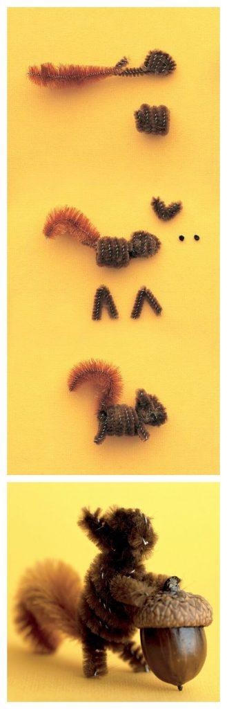 A Squirrel Craft Using A Pipe Cleaner