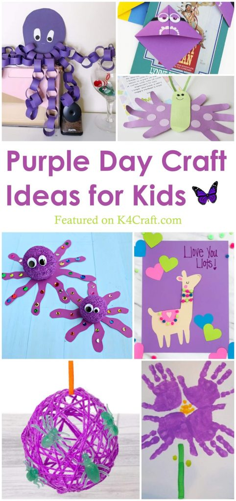 Purple Art & Craft Ideas for Kids