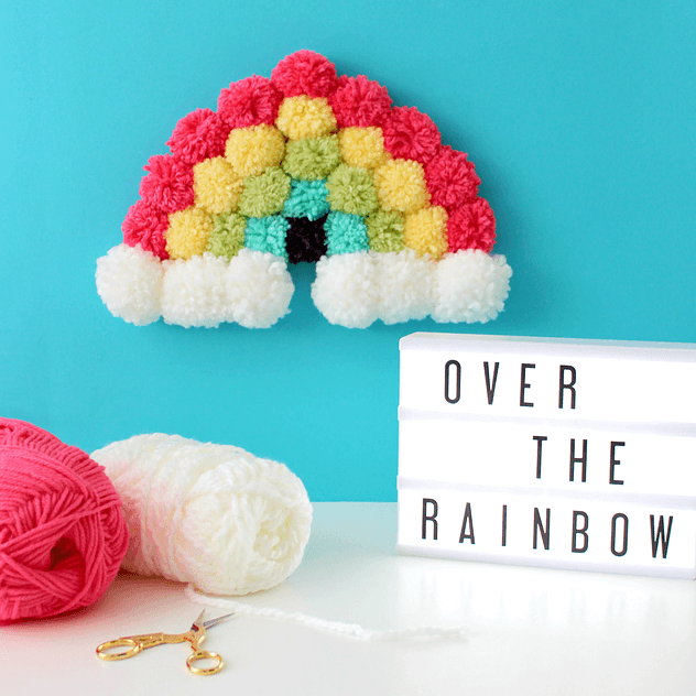 Beautiful pom pom rainbow design - St. Patrick's Day Crafts for prechool kids