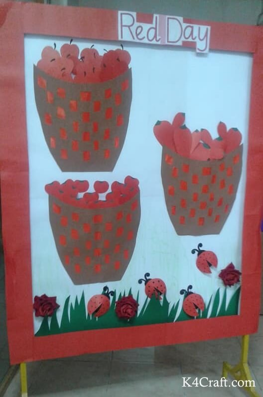 Red Day Fruit Basket and Insect Poster