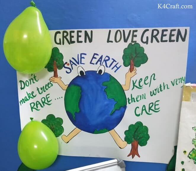 Green day crafts for kids, toddlers, preschool - Green Love Green Activity