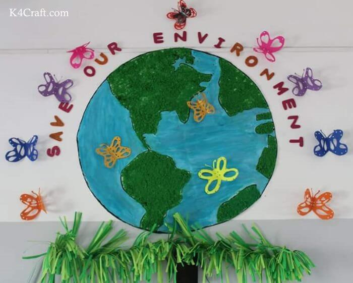 Green day crafts for kids, toddlers, preschool - Save Our Environment Craft For Preschool