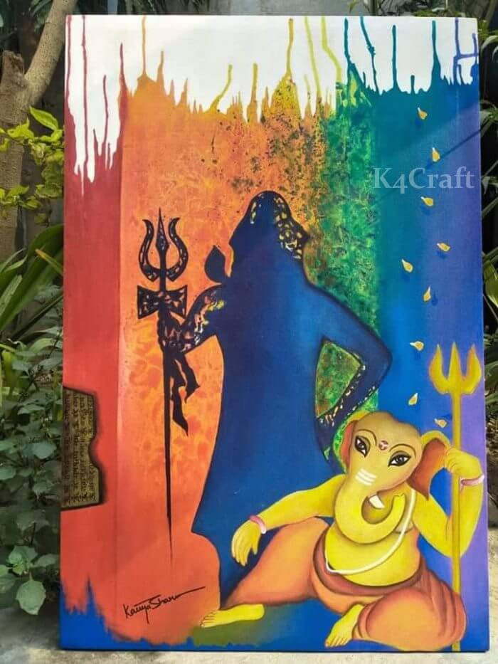 Shivratri craft ideas along with Lord Ganesha
