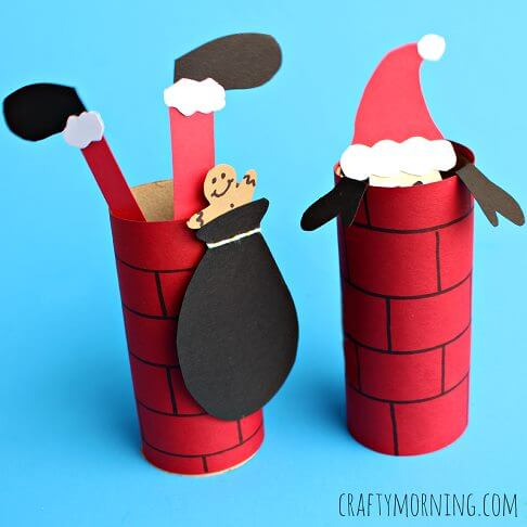 Make Santa Plunged Into Cylindrical Chimney