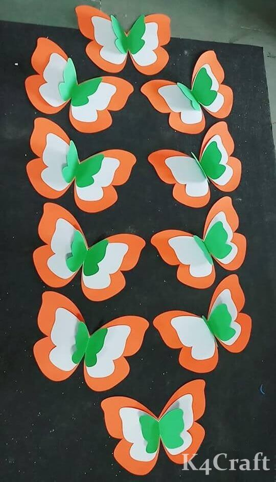 Butterfly Flag Craft