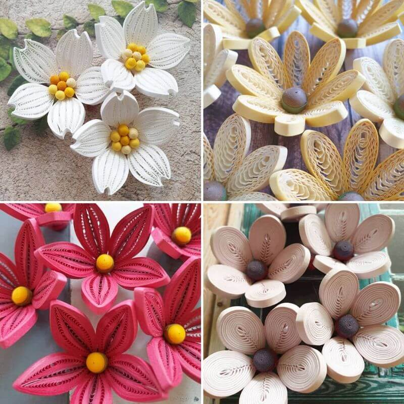 "Beautiful flower designs made by quiling ""100 Quilling Flower Designs by Hae Kyoung Kim"" is locked 100 Quilling Flower Designs by Hae Kyoung Kim"