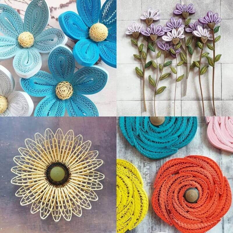 Large sized flower quiling designs