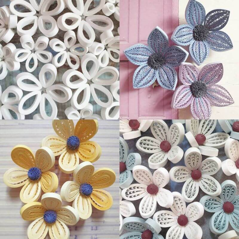 Pretty flower quiling designs Beautiful flower quiling design