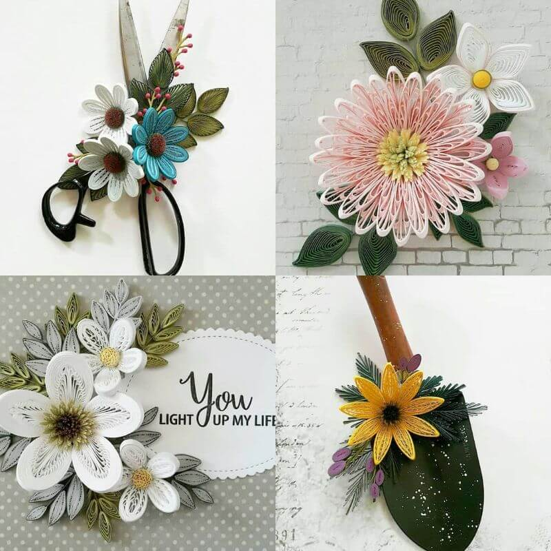 """Beautiful quiling designer flowers """"100 Quilling Flower Designs by Hae Kyoung Kim"""" is locked 100 Quilling Flower Designs by Hae Kyoung Kim"""