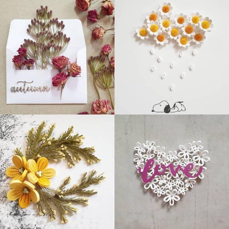 Beautiful flower quiling design