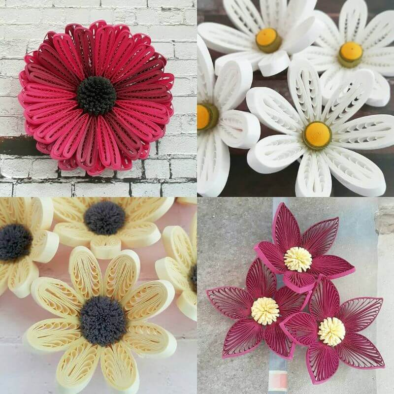 """Beautiful and bright flower quiling designs """"100 Quilling Flower Designs by Hae Kyoung Kim"""" is locked 100 Quilling Flower Designs by Hae Kyoung Kim"""