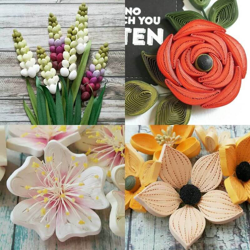 Beautiful flower quiling designs