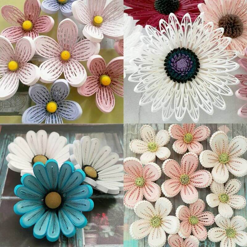 """Intricate flower quiling design """"100 Quilling Flower Designs by Hae Kyoung Kim"""" is locked 100 Quilling Flower Designs by Hae Kyoung Kim"""