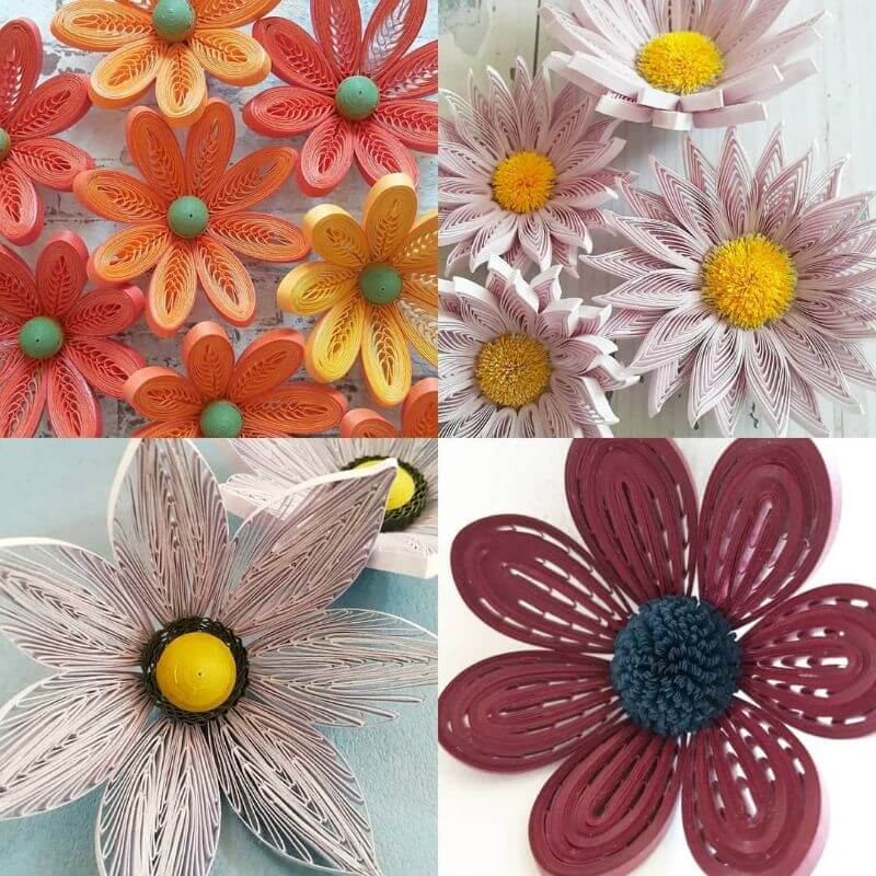 """Awesome flower quiling design """"100 Quilling Flower Designs by Hae Kyoung Kim"""" is locked 100 Quilling Flower Designs by Hae Kyoung Kim"""