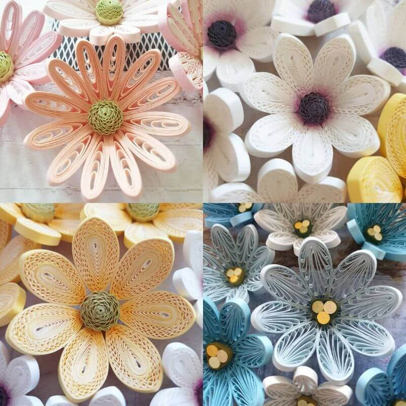 "Pastel shade flower quilled designs ""100 Quilling Flower Designs by Hae Kyoung Kim"" is locked 100 Quilling Flower Designs by Hae Kyoung Kim"