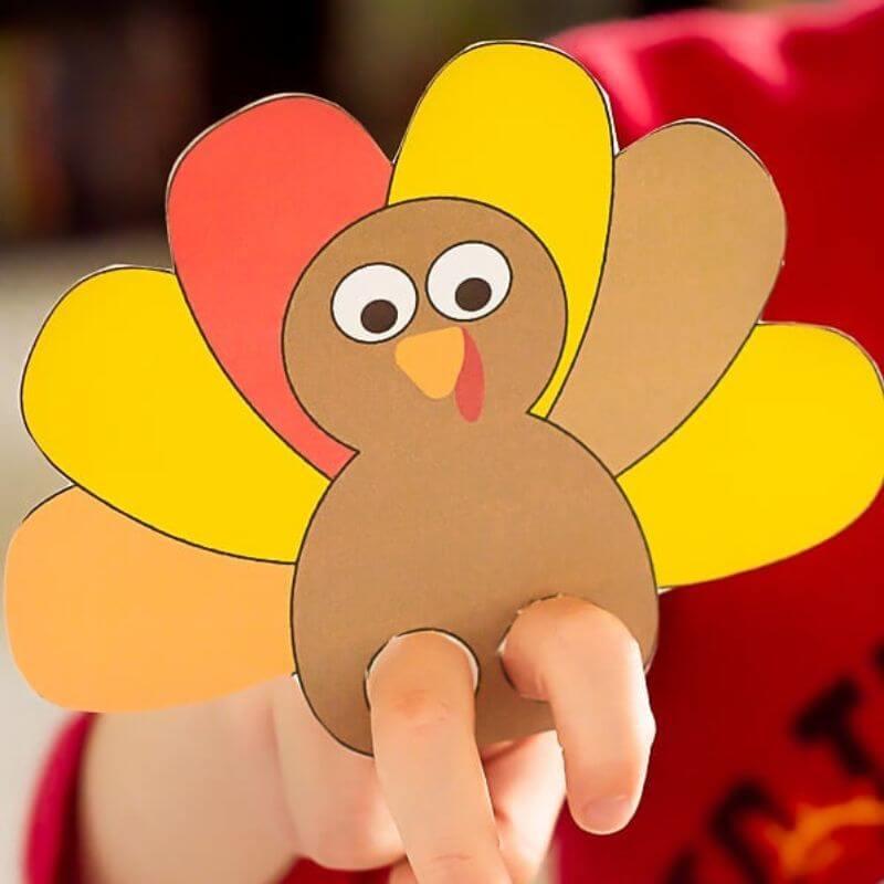 Cute Turkey Puppet For kids!