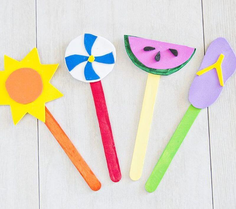 Cute Popsicles stick Bookmarks craftsCute Crafts for Kids Made with Love by a Mother