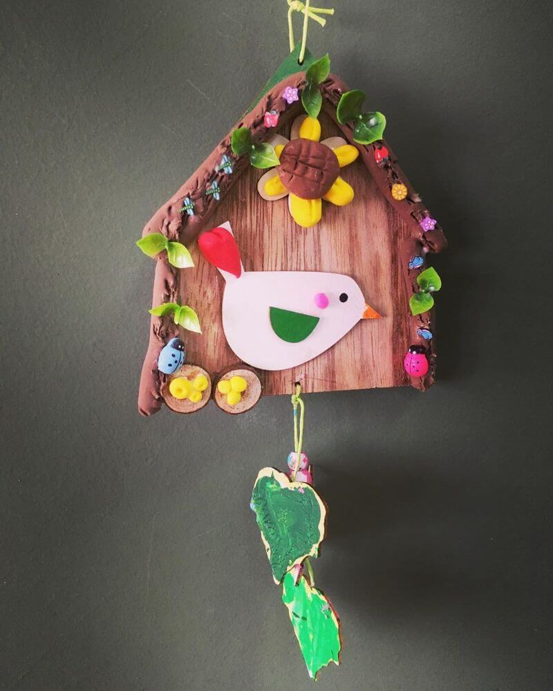 Pretty Birdhouse craft for kids Easy craft ideas for kids to make at home
