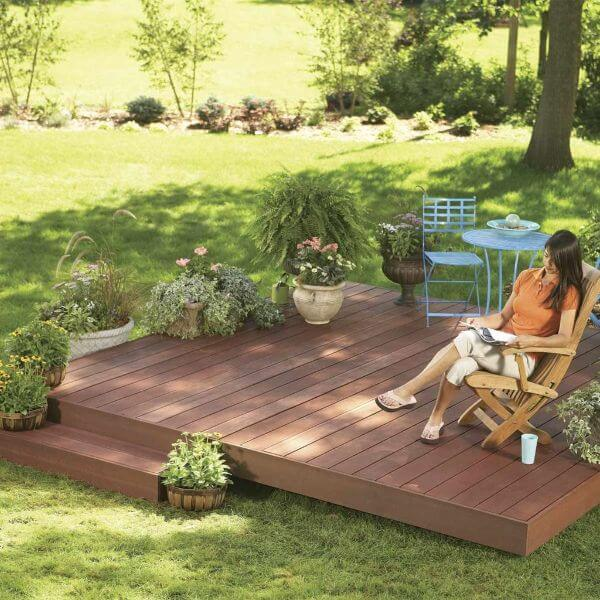 Flat garden patio DIY Wood DIY Projects for Home