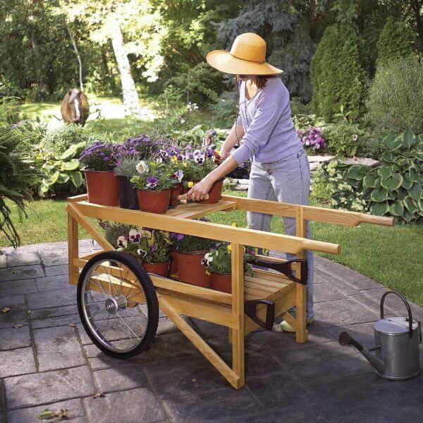 Kitchen garden wooden Trolley Project
