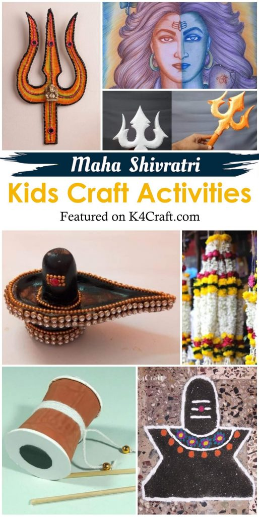 Maha Shivratri Craft Activities for Kids - Religious Craft Ideas