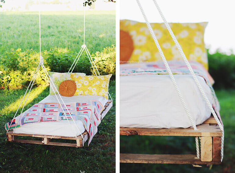 Making a bed sized wooden swing - Wood DIY Projects for Home